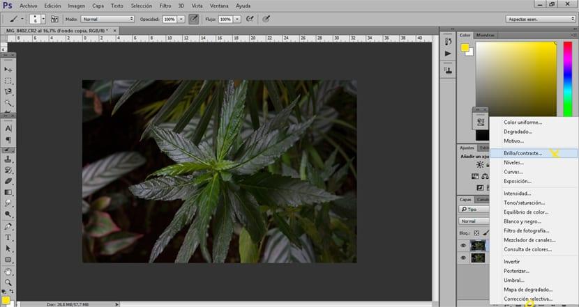 Creando una capa de ajuste de brillo y contraste conseguimos darle más fuerza a nuestras imágenes