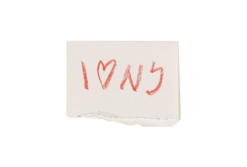 El boceto original de I love New York lo podemos encontrar expuesto de forma permanente en el museo de arte moderno de nueva york