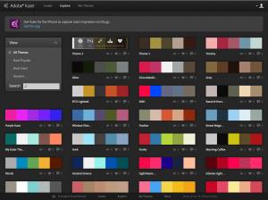 herramienta llamada color adobe Kuler