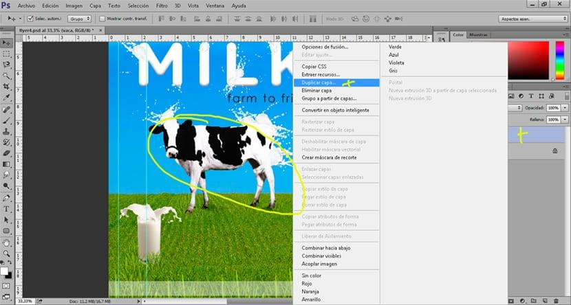Duplicamos la capa para crear una sombra en Photoshop