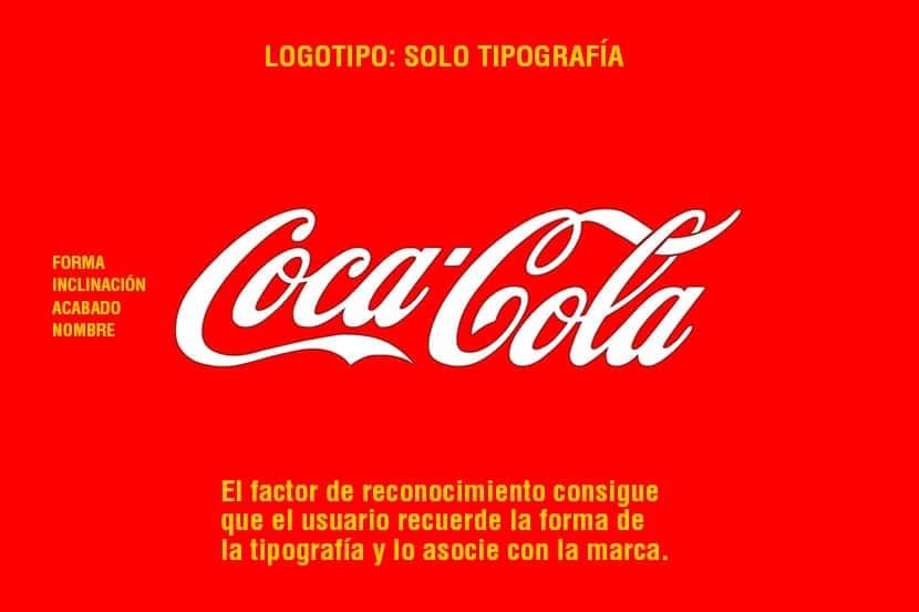 El logotipo de coca-cola es muy fácil de recordar