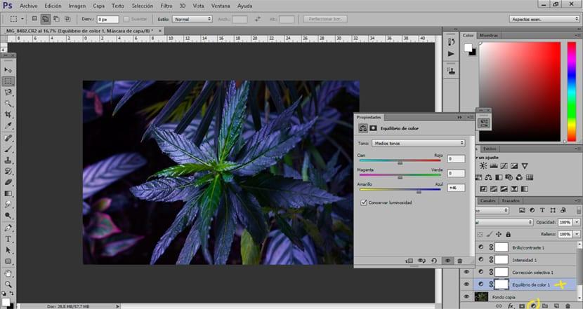 Photoshop nos permite cambiar la dominante de color de una imagen