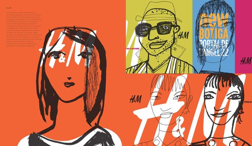 Proyecto publicitario de H&M realizado por el diseñador Javier Mariscal
