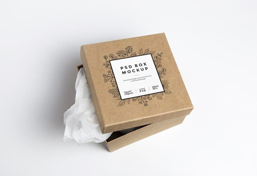 Tarjeta para caja cartón