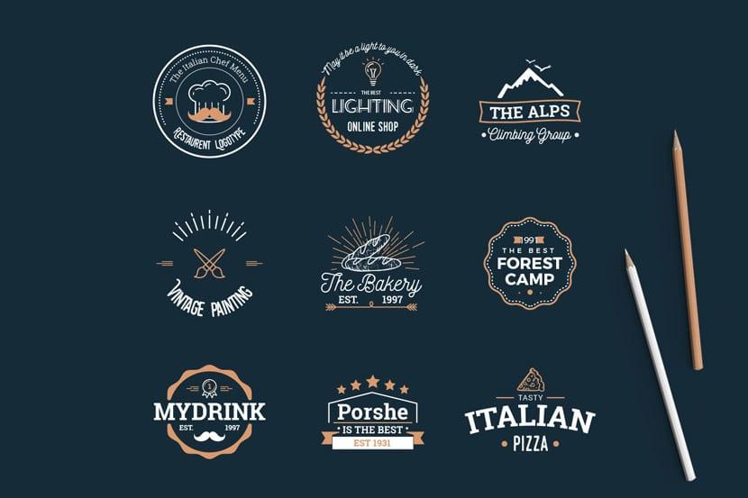 Vintage Logos Los Alpes