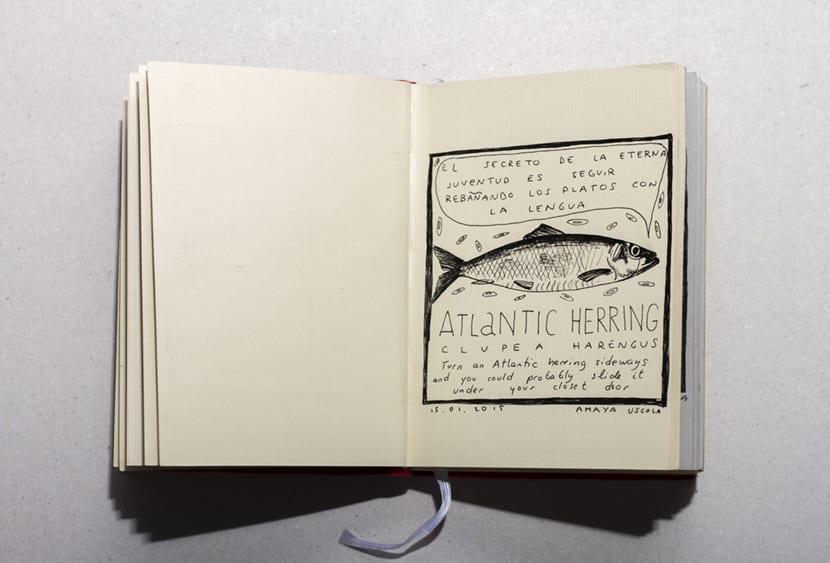 Memoria de pez es un libro de artista único
