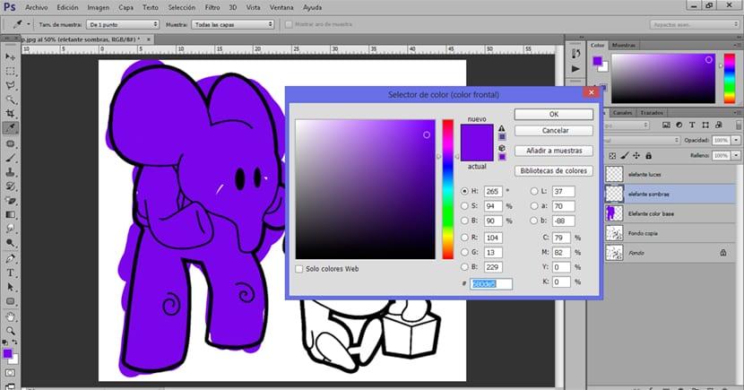 Podemos crear luces y sombra en un dibujo con colores más claros y oscuros
