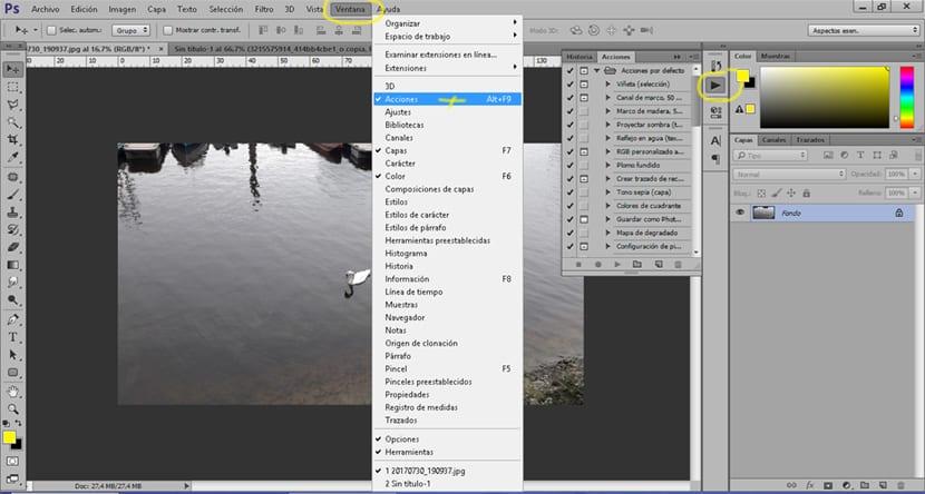 Una acción en Photoshop nos puede ayudar mucho en nuestros retoques fotográficos