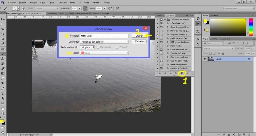Una acción de Photoshop nos permite retocar fotos de forma automática