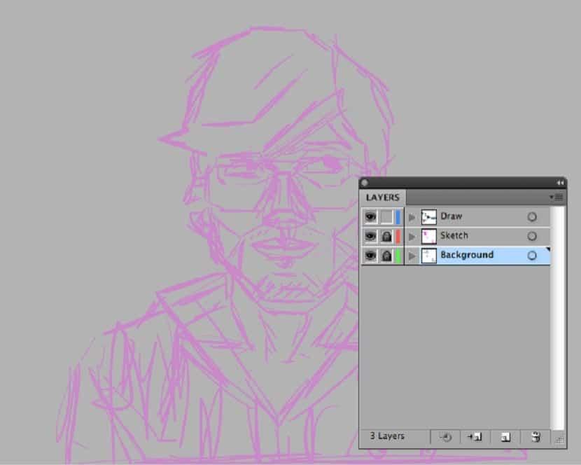 paso 5 del autorretrato estilo geometrico facil de hacer