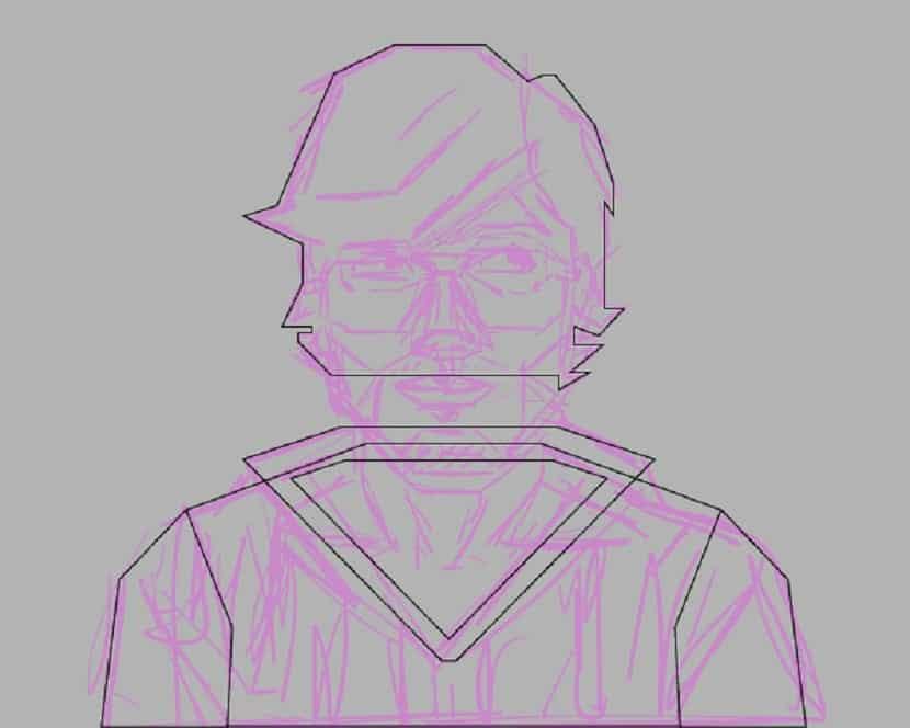 paso 7 del autorretrato estilo geometrico facil de hacer