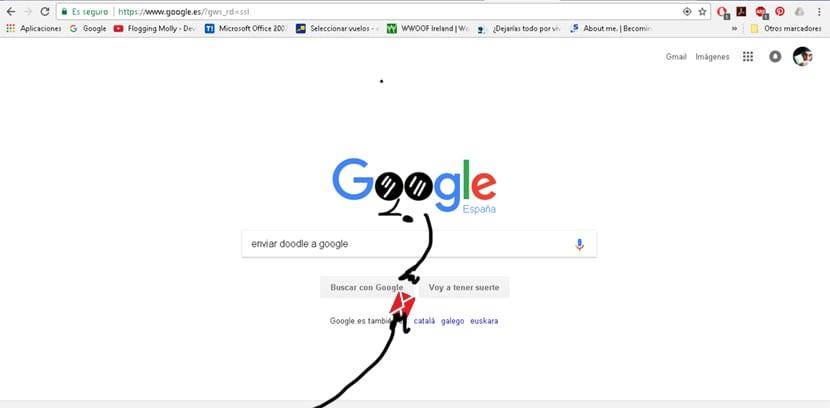 Envía tus doodles a Google