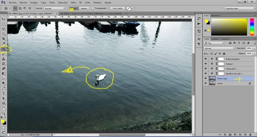 La herramienta parche de Photoshop nos permite eliminar elementos indeseados en una imagen