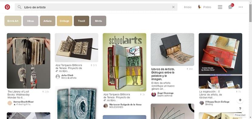 en pinterest podemos encontrar muchas referencias para crear libros de artista