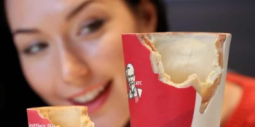 KFC tiene un envase comestible