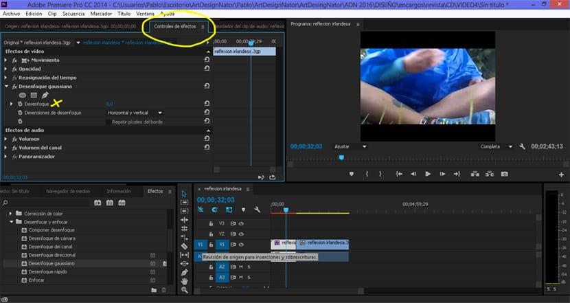Aplicamos el efecto desenfoque gaussiano de forma rápida en nuestro vídeo