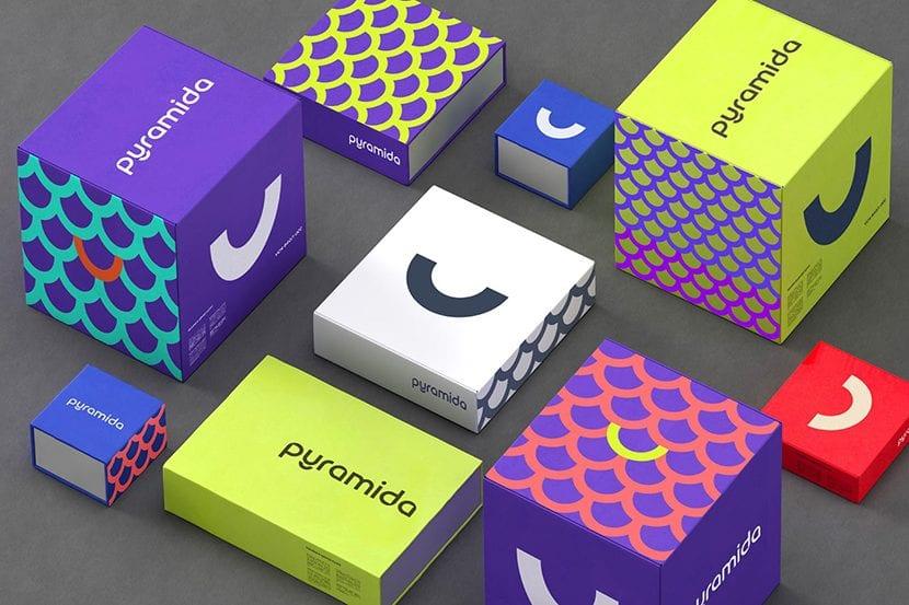Colores brillantes en sistema de packaging