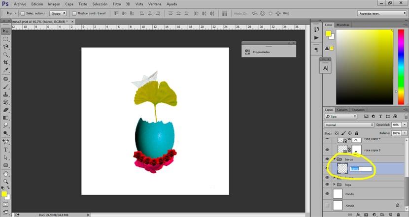 Nombrar las capas es una forma de trabajar de manera ordenada en Photoshop