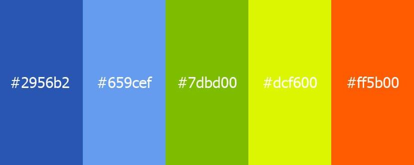 Las distintas gamas de colores con sus usos y combinaciones - Gamas de colores azules ...