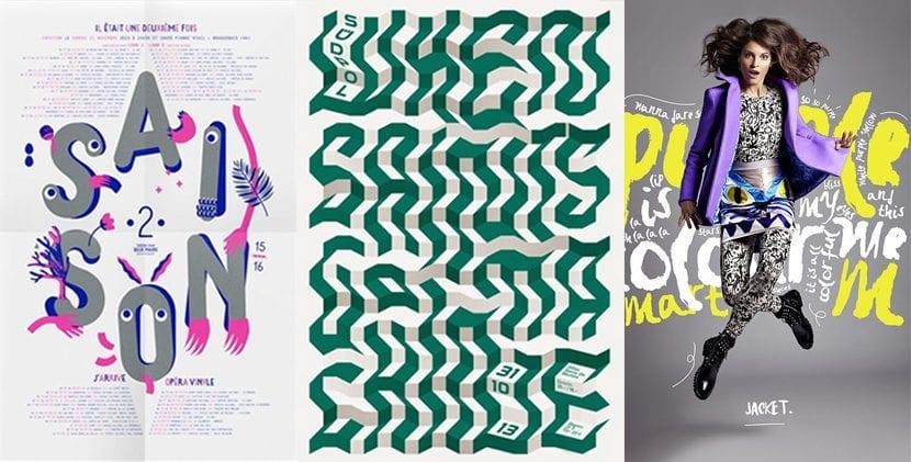 Posters con diseño tipográfico