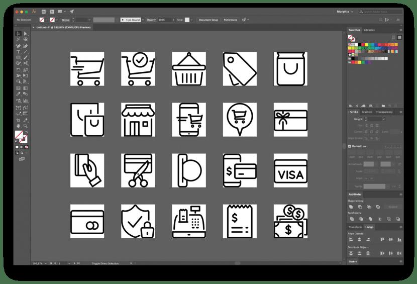 Iconos en hojas de trabajo