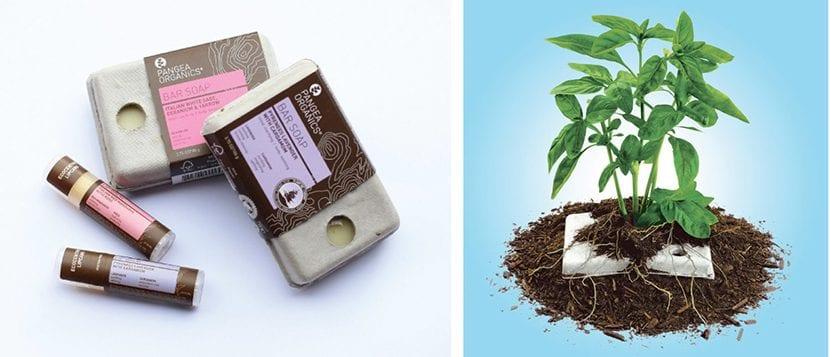 Productos Pangea Organics y envase compostado