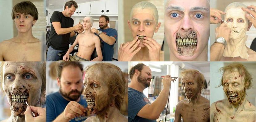 The walking dead es una serie que necesita un gran numero de maquilladores