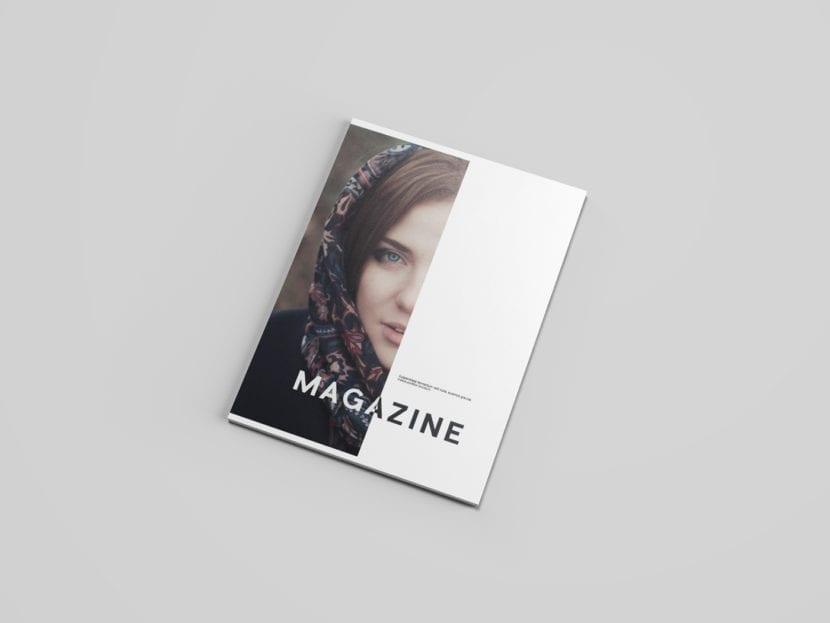 Mockup de revista en varios ángulos