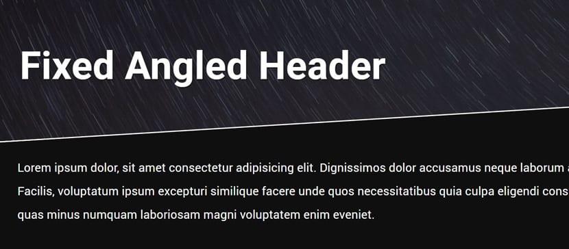 Angled Header
