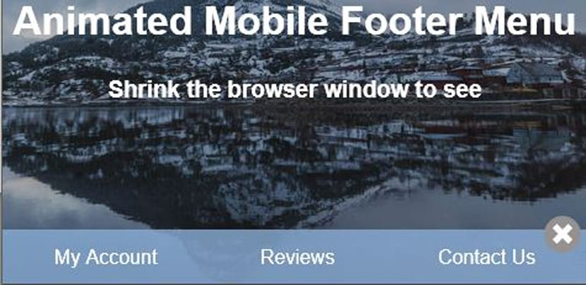Footer mobile animado