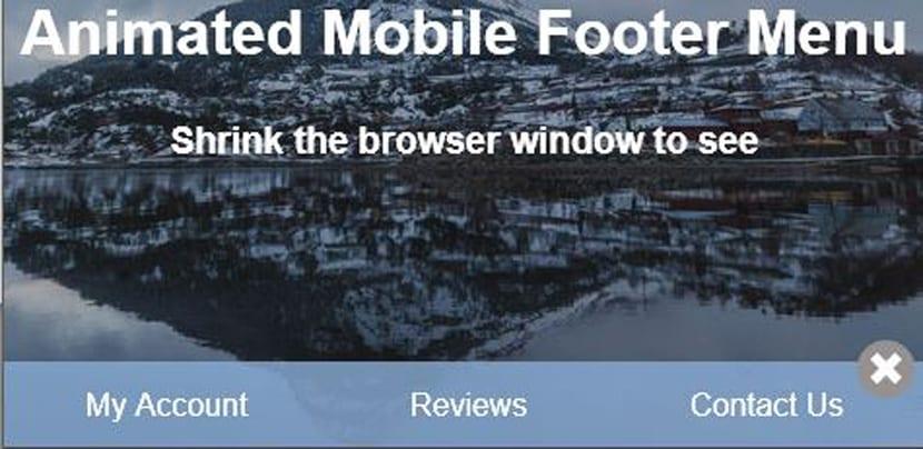 Footer mobile animado