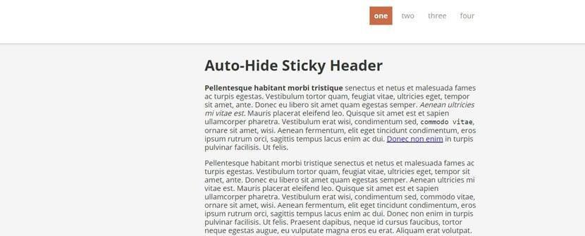 Auto hide
