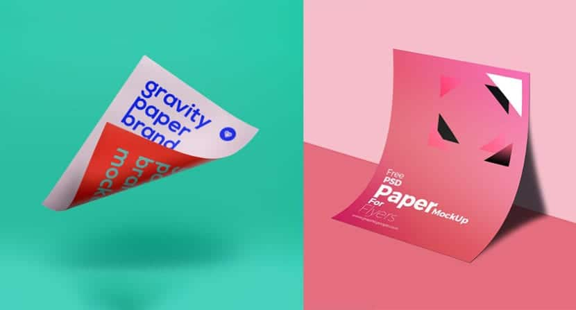 Mockups modernos de flyers