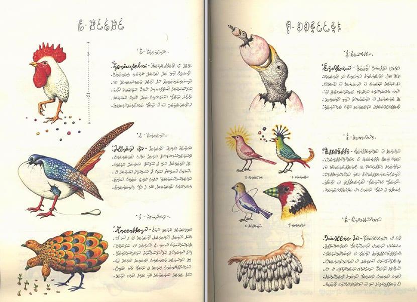 Animales irreales en el manuscritoVoynich