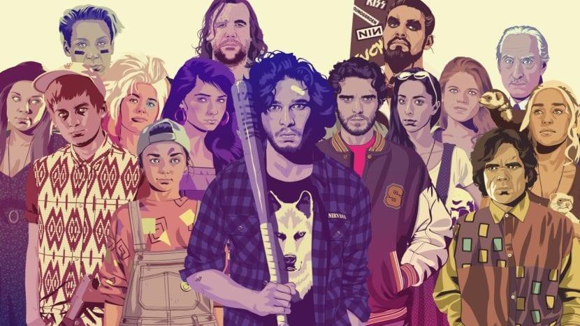 Personajes de Juego de Tronos de Mike Wrobler