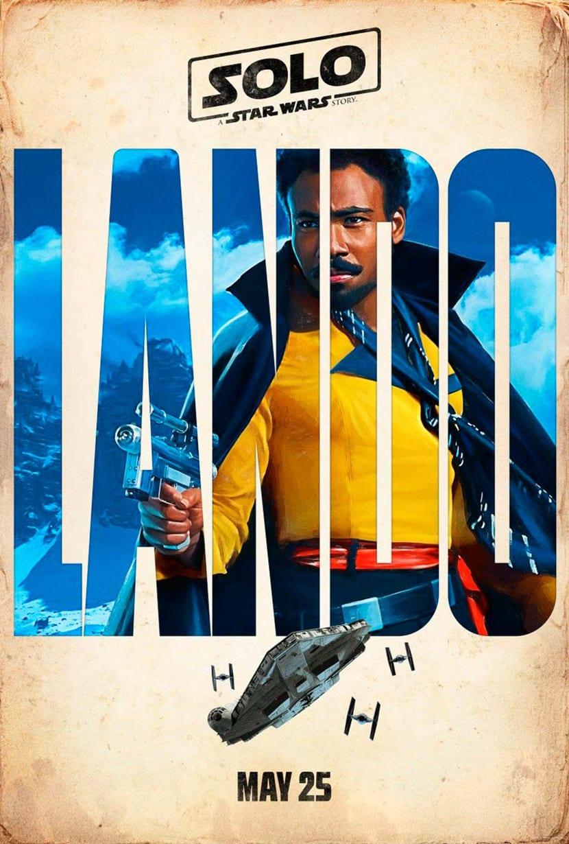 la tipografía como elemento llamativo en los nuevos carteles de Han Solo