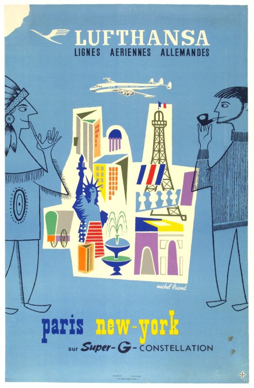 Poster publicitario de Lufthansa