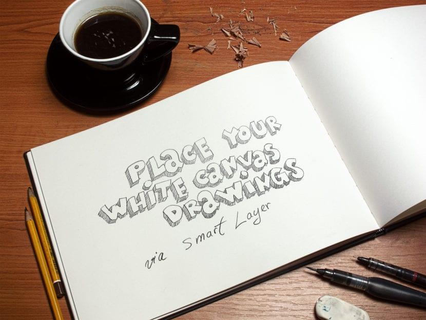 Mockup de cuaderno de arte