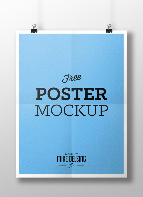 Poster colgante con fondo blanco