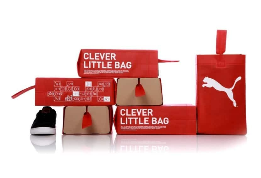 Packaging para zapatillas de Puma