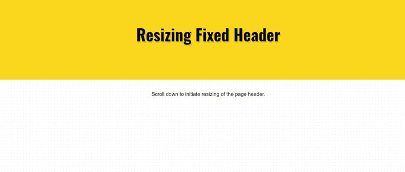 Responsive scroll header