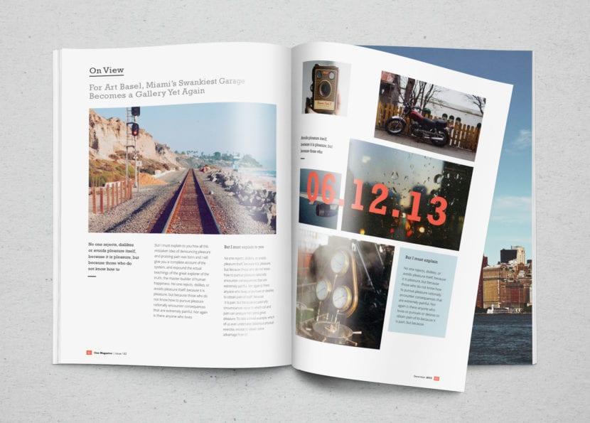 Revista con retícula de imágenes