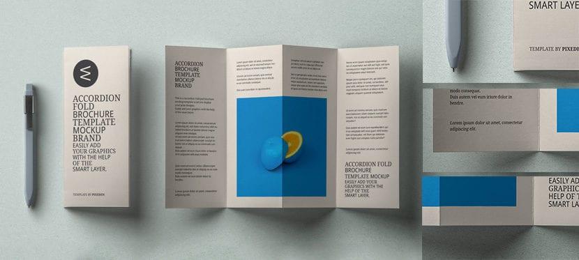 Presentación de brochure tipo acordeón
