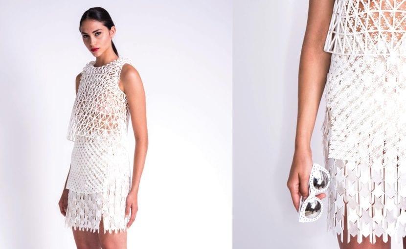 Vestido blanco de la Coleccion de Danit Peleg