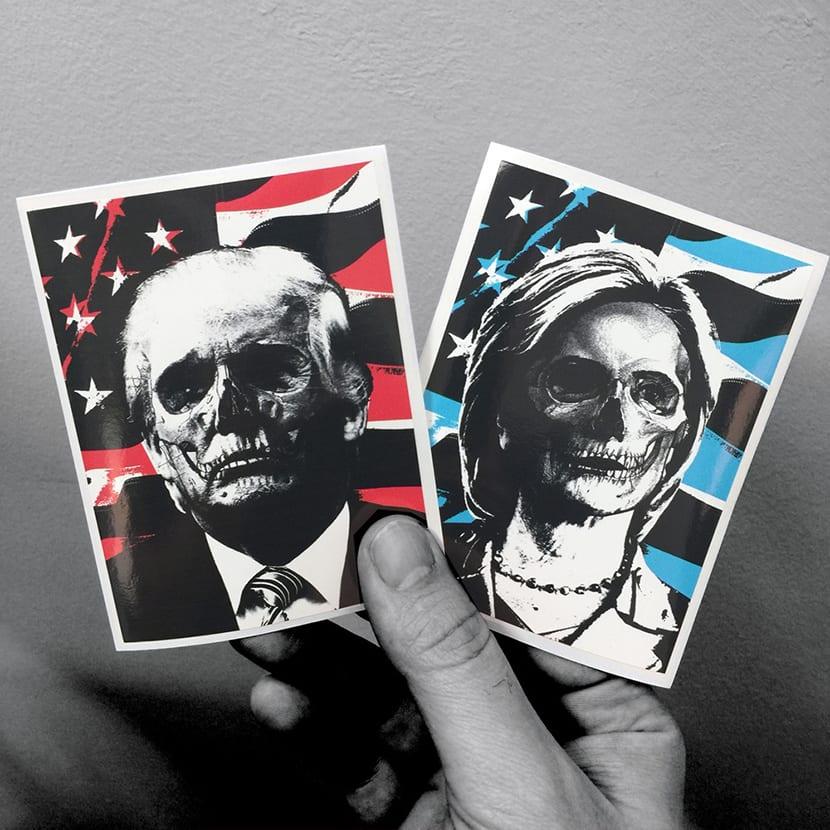 Pegatinas de carácter político