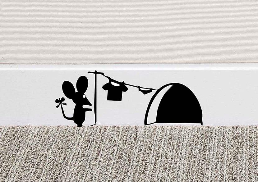 pegatinas como arte para decorar el hogar