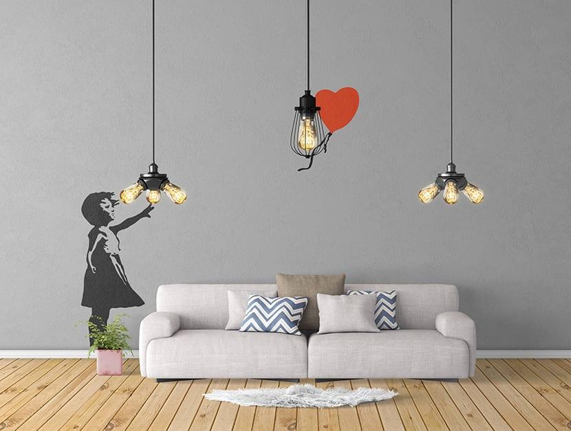 El arte urbano para decorar el hogar