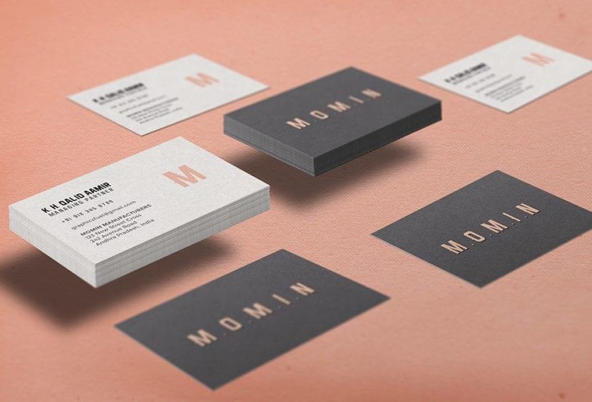 Mockup de tarjeta con efecto flotante