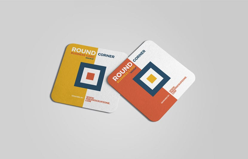 Mockup de tarjetas cuadradas