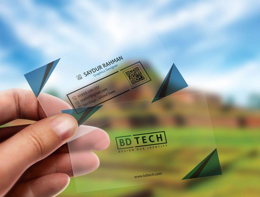 Mockup tarjetas translucidas